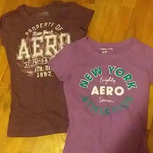 Purple aeropostle shirts